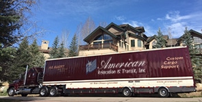Our truck at the Edwards, Colorado home of the Freedmans, founders of IHOP
